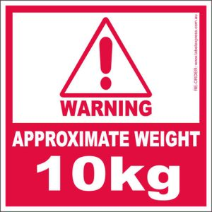 Weight Warning Labels