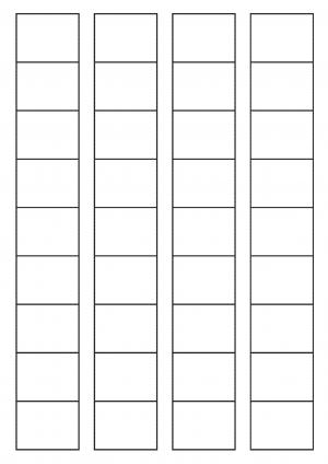 40mm x 32mm Sheet layout
