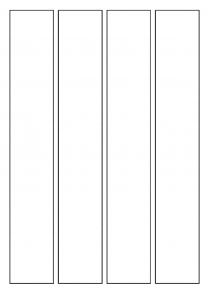 44mm x 275mm Sheet layout