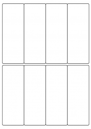 50mm x 138mm Sheet layout