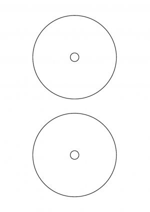 117mm diameter CD small hole Sheet layout Page 1