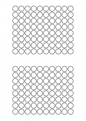 13mm diameter Sheet layout