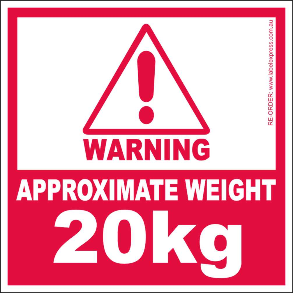 Approximate Weight 20kg