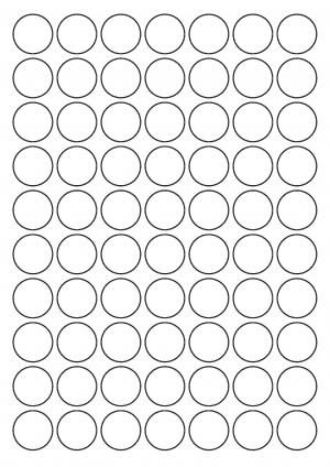 25mm diameter Sheet layout