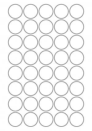 32mm Diameter Sheet layout