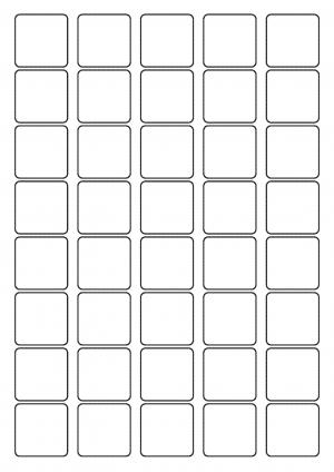 33mm x 33mm Sheet layout
