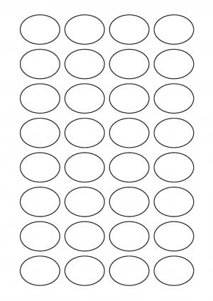39mm x 29mm Oval Sheet layout 1