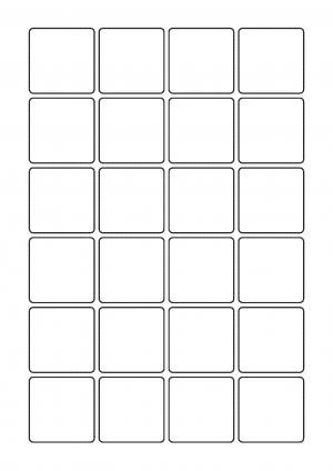 41mm x 41mm Sheet layout
