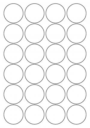 45mm Diameter Sheet layout