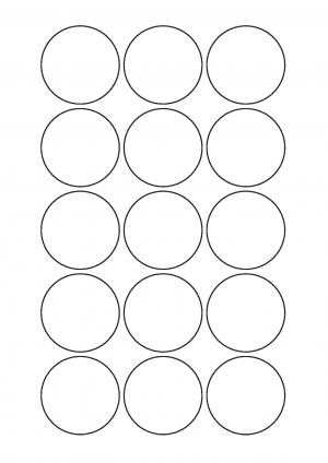 50mm Diameter Sheet layout