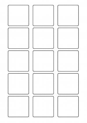 50mm x 50mm Sheet layout