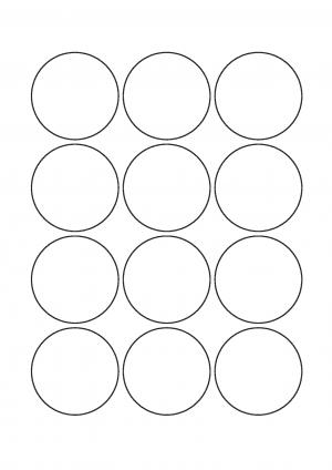 55mm Diameter Sheet layout