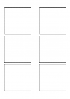 80mm x 80mm Sheet layout