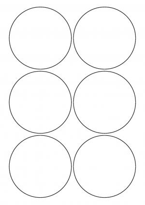 90mm Diameter Sheet layout