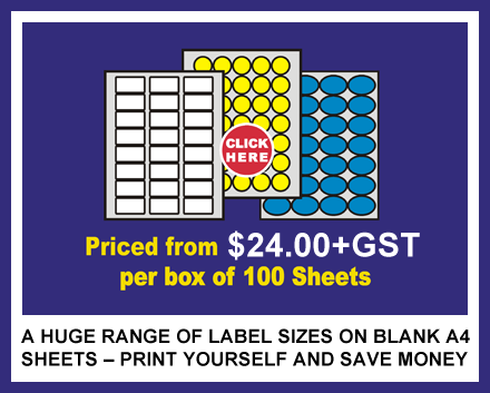 A4 Sticky Blank Inkjet Labels On Sheets For Printing