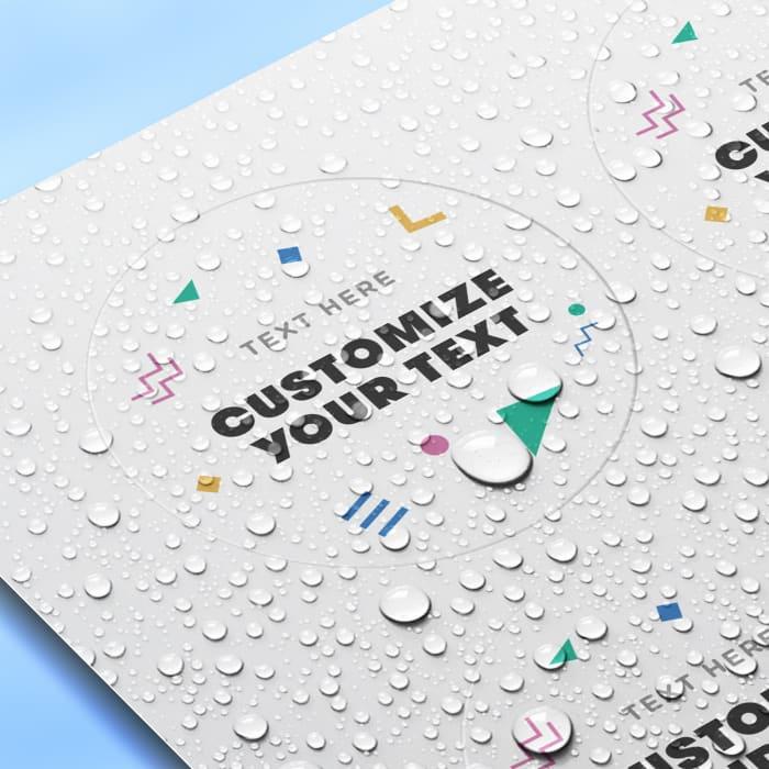waterproof sticker labels